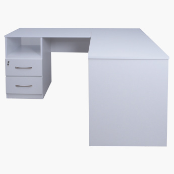 Lara Corner Study Desk with 2-Drawers