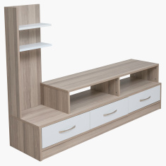 Lara 3-Drawer Wall Unit for TVs up to 55 inches