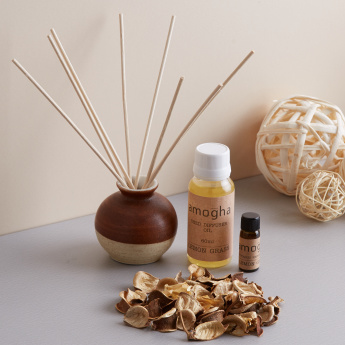 Refresh Wellness Lemongrass Reed Diffuser Set