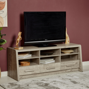 Curvy Low TV Unit for TVs up to 65 inches