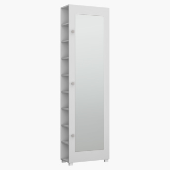 Salvador 20-Pair Shoe Cabinet with Mirror