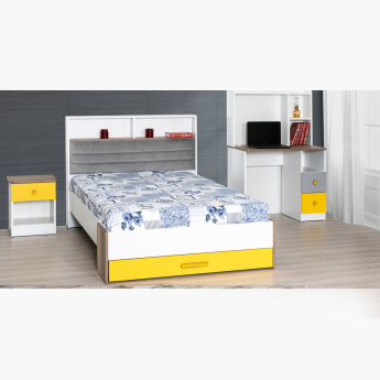 cheap for discount 6767c 9c173 Sunny Single Bed with Headboard Storage and 1-Drawer