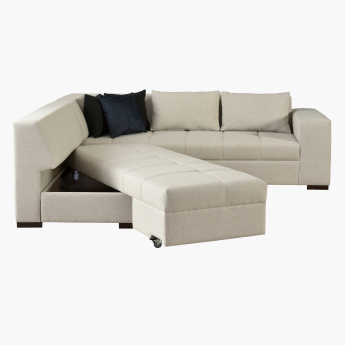 Brena 5-Seater Left Corner Sofa Bed with Scatter Cushions