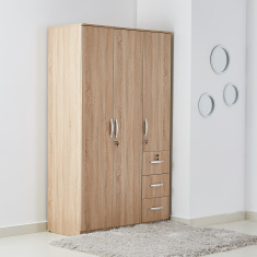 Joy 3-Doors and 3-Drawers Wardrobe with Lock