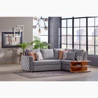Hillary Right Facing Corner Sofa Bed with Storage and Scatter Cushions